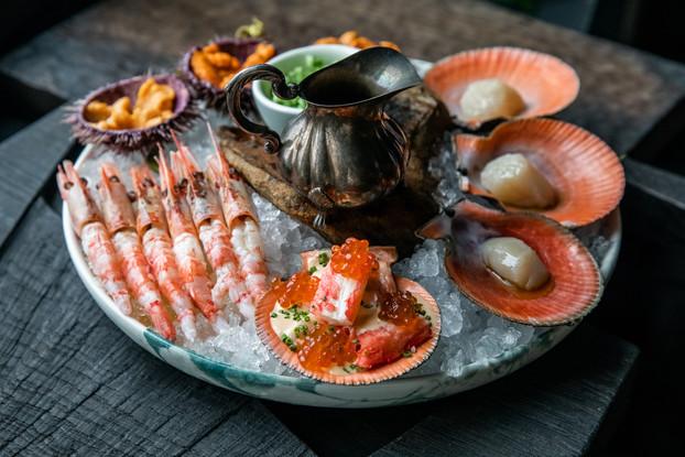 Ресторан «Grebeshki», Санкт-Петербург: Большая тарелка морепродуктов