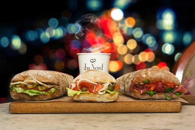 Du Nord 1834 кондитерская: Кофе и сэндвич за 280