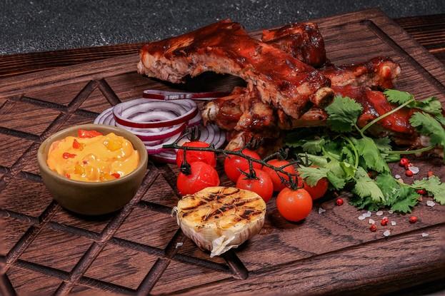 Ресторан «The River Restaurant», Санкт-Петербург: Ребрышки свиные в глазури из специй
