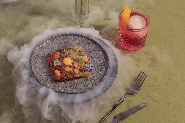 Ресторан «Nevesomost», Санкт-Петербург: Тартар из говядины